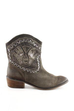 Korte laarzen grijs-zilver casual uitstraling
