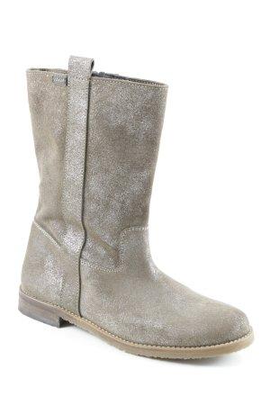 Stivale a gamba corta marrone-grigio stile casual