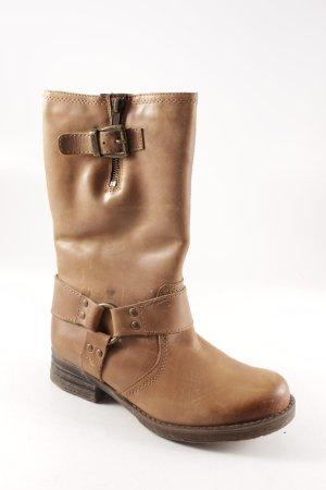 Stivale a gamba corta marrone chiaro stile casual
