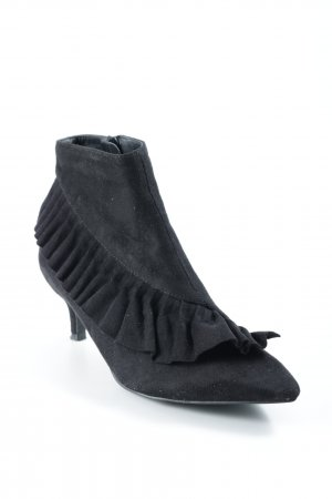 Stivale a gamba corta nero elegante