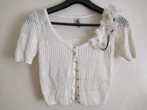 Crochet Cardigan oatmeal-white synthetic