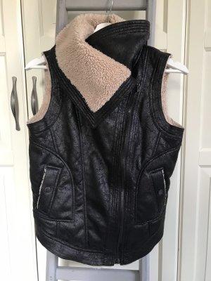 Leather Vest dark brown