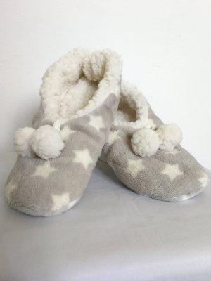 Pantofola da casa grigio chiaro-bianco sporco