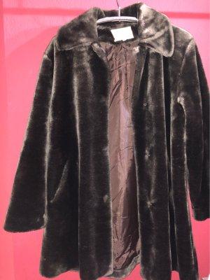 Kuschelig Kunstfell kurz Mantel