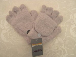 Magic Fingerless Gloves beige mixture fibre