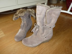 Tamaris Fur Boots multicolored suede