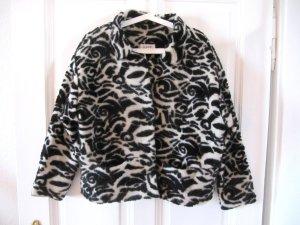 Kuschelig warme Wolljacke von ESPRIT Schwarz Creme-Weiß Edel