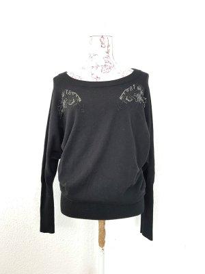 kuschelig warmer Pullover Wolle / Kaschmir der Edelmarke Amor und Psyche gr M