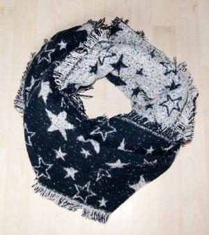 edc by Esprit Woolen Scarf dark blue-white polyester