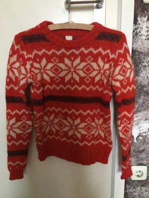 Vila Norwegian Sweater red-black