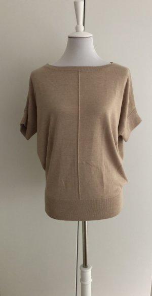 Kuschelig-weicher kurzärmliger Sweater von DKNY in beige