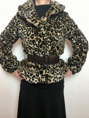 Kuschelige, ausgefallene, elegante Teddy-Tiger-Jacke