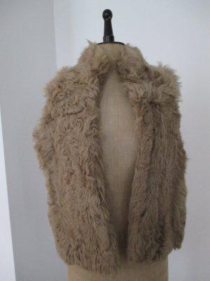 Zara Woman Chaleco de piel multicolor Pelaje
