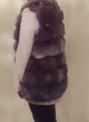 Smanicato di pelliccia argento-grigio