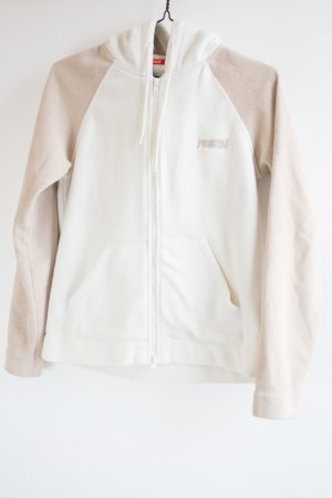 Fishbone Fleece Jackets white-beige polyester