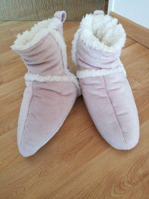 Huislaarzen roze-wit Polyester