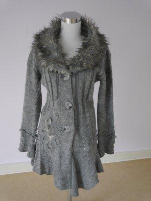 Wool Jacket grey mixture fibre