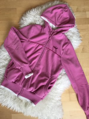 Fleece jack wit-roze