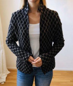 Chaqueta de lana negro-crema lana merina