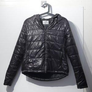 Kuschelige Jacke im Metallic-Look