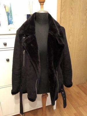 Topshop Fake Fur Jacket black