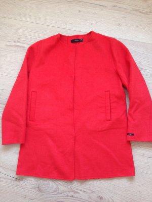 Kuschelige Jacke von Hallhuber in rot, Gr 44, neu