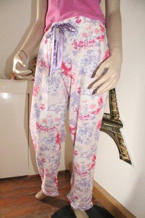 kuschelige Pyjama - Hose * Blumen * Winterbaumwolle * Gr. M *