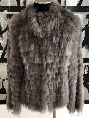 Kuschelige Racoon-Jacke in grau