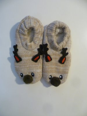 Kuschelige Rentier-Hausschuhe 38-41, Socken, Slipper, Cozy, Winter