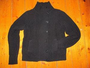 Kuschelige Strickjacke von Esprit Pulli Schwarz Jacke Grobstrick Baumwolle S M
