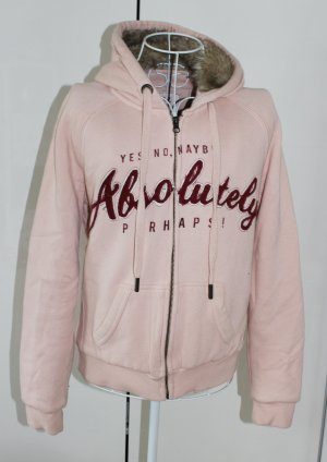 Kuschelige Sweatshirtjacke in rosa