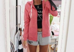 Veste à capuche rose-rose fluo