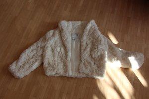 Kuschelige Teddyfell-Jacke in weiß von Tally Weijl in Größe 36