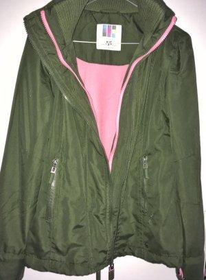 AJC Chaqueta de entretiempo verde bosque-rosa