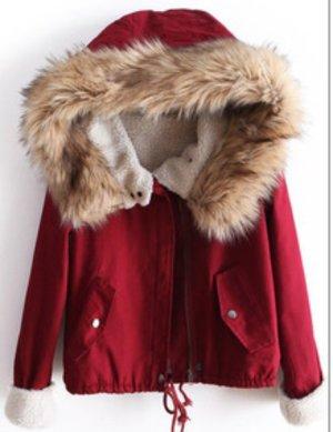 Kuschelige Winterjacke in rot