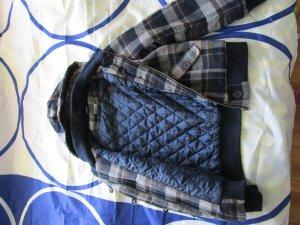 kuschelige Winterjacke mit Karo-Muster