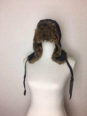 Kuschelige Wintermütze Jeansoptik