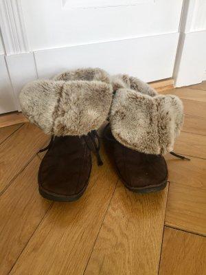 Vagabond Bottes de neige gris brun-brun noir