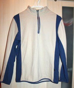 Kuscheliger beige blauer Pullover, Gr. S (36/36)