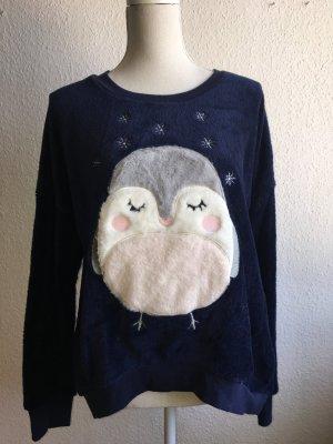 Kuscheliger blauer Fleece Pullover von Hunkemöller