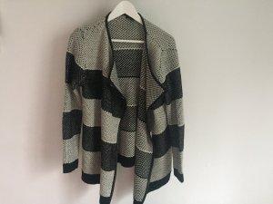 kuscheliger Cardigan in grau/schwarz - Größe M