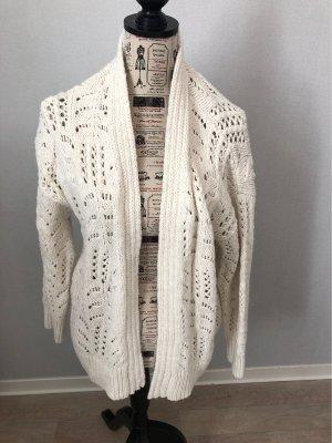 Mango Veste tricotée en grosses mailles blanc cassé