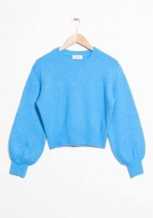 Pull en laine argenté-gris clair