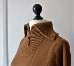 Sailor Sweater cognac-coloured wool