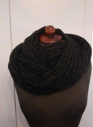 Kuscheliger dicker Schal loop Pieces schwarz  Winter