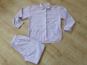 Pijama púrpura-blanco Algodón
