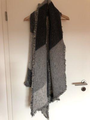 H&M Bufanda de lana gris antracita-gris