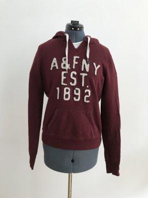 Abercrombie & Fitch Jersey con capucha burdeos-carmín