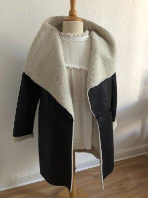 More & More Manteau court noir-blanc cassé