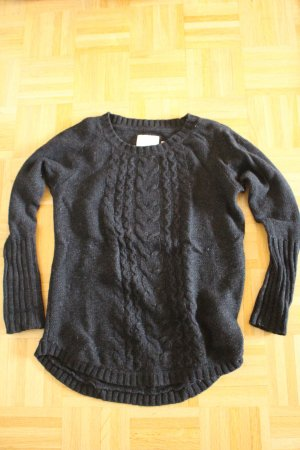 H&M L.O.G.G. Knitted Sweater black wool
